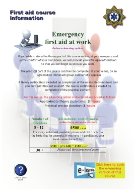 Page 22 - first aid courses brochure - WORKPLACE